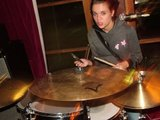 Jess bangs the drum