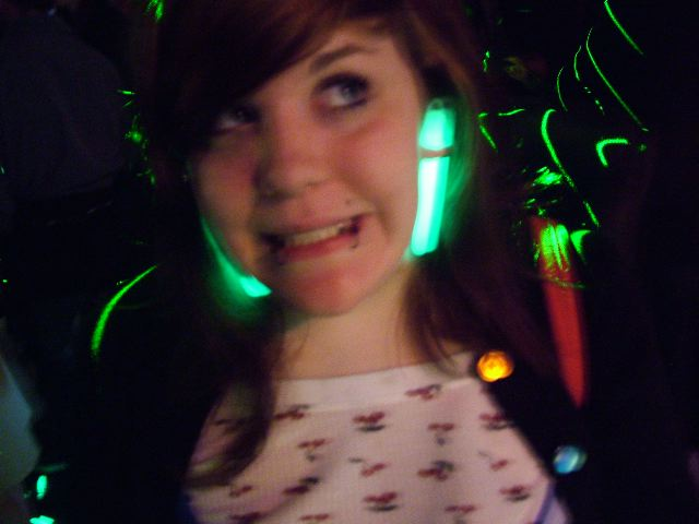 Glowstick earrings